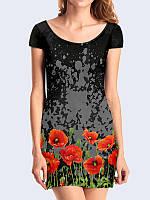 Платье Маки на черном