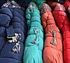 Куртка детская на девочку цветы мех иск., фото 2