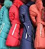 Куртка детская на девочку пояс мех иск., фото 2