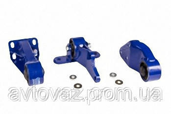 Подушка, опора двигателя ВАЗ 2108, ВАЗ 2109, ВАЗ 21099 передняя, задняя, боковая АВТОПРОДУКТ (3шт.)