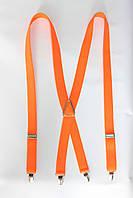 """Подтяжка женская однотонная оранжевая (25 мм X) """"Remen"""" LM-638"""