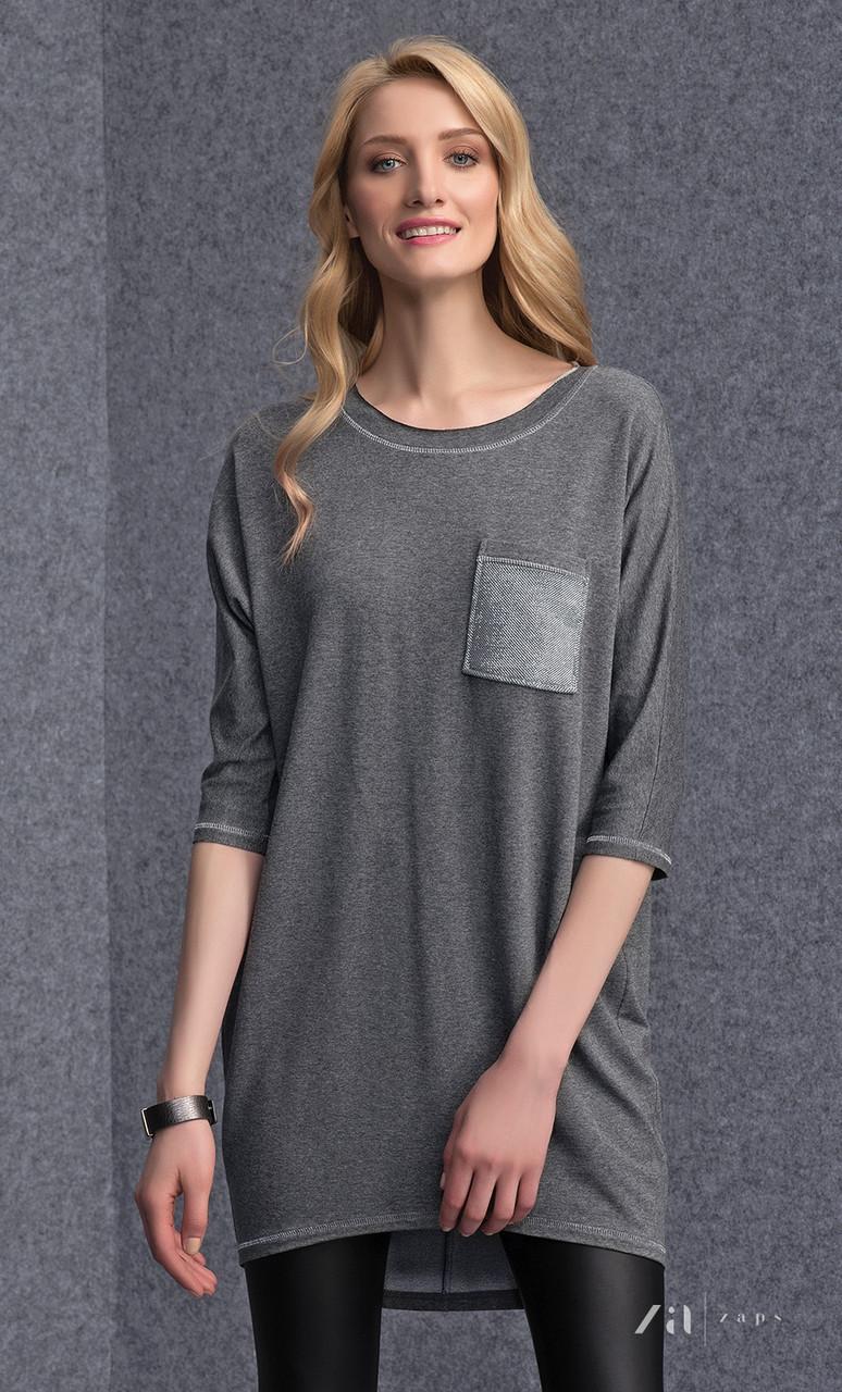 Женская туника серого цвета Margot  Zaps