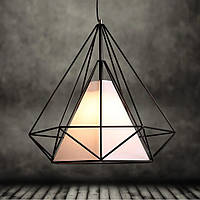 Подвесной светильник [ Cell loft design ] (клетка большая с плафоном)