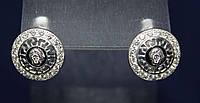 Серьги ВЕРСАЧЕ серебро 925 пробы АРТ242, фото 1