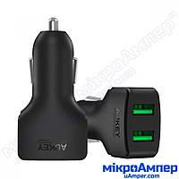AUKEY Зарядний пристрій з прикурювача 2 USB