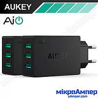 AUKEY Зарядний пристрій 30W 3 USB
