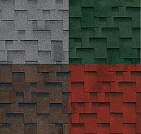 Гибкая черепица Shinglas Джайв Аккорд (красный, зелёный, коричневый, серый)