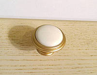 Ручка кнопка GU-P8803 матовое золото с керамикой , фото 1