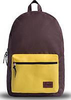 Практичный городской рюкзак 18 л. Fusion Browning, коричневый с желтым