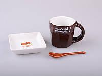 """Набор чайный """"завтрак"""" из 3 пр., 100 мл., 7х19х11"""