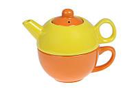 "Набор чайный ""радуга"" 310 мл.+425 мл. 3 пр., 13х16х12"