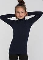 Термогольф для девочки 122-152, синий