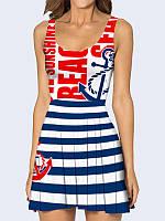 Платье Морской стиль