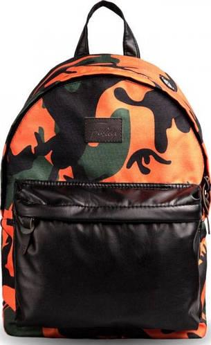 Неординарный городской рюкзак 15 л. Fusion Camo, разноцветный камуфляж