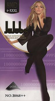 Колготки жіночі еластик на байку Jujube B868++, 800 Den, розмір 3XL (6), 2 шва