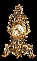 Часы бронзовые «Венок из цветов»