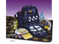 Рюкзак для пикника на 4 персоны с наполнением и пледом