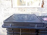 Люк квадратный В 125 с запорным механизмом, черный, фото 1