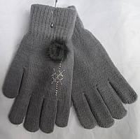 Перчатки женские  помпон RuBi