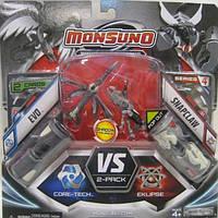 Набор для битвы на 2 игрока Monsuno Core Tech - Eklipse EVO и SNAPCLAW W4 (34439-42932-MO)