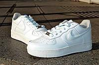 Кожаные кроссовки Nike Air Force, белые