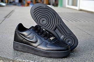 Кожаные кроссовки Nike Air Force, мужские, женские, фото 3