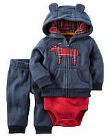 """Флисовый комплект одежды для мальчика Carters """"Ушки"""""""