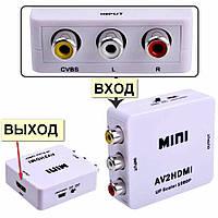 Конвертер из AV (тюльпан) в HDMI, переходник адаптер TV преобразователь, фото 1