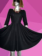 Эффектное   черное  платье с юбкой Солнце-клеш