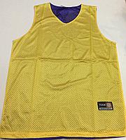 Форма баскетбольная р.48-50 (двусторонняя желтая/сиреневая)