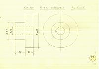 "Полумуфта фланцевая-""посадочное место"" под вал диаметром ф25мм со ""шпонкой"";-посадочное место под муфту ф110мм"