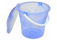 Ведро пластиковое с крышкой прозрачное, пищевое, 12 л (66-268) шт.