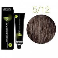 Краска для волос INOA-mix L'Oreal Pro 60 g 5.12 Светлый шатен пепельно-перламутровый
