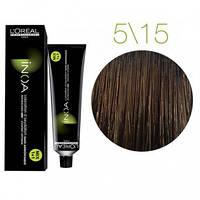 Краска для волос INOA-mix L'Oreal Pro 60 g 5.15 Светлый шатен пепельно-махагоновый