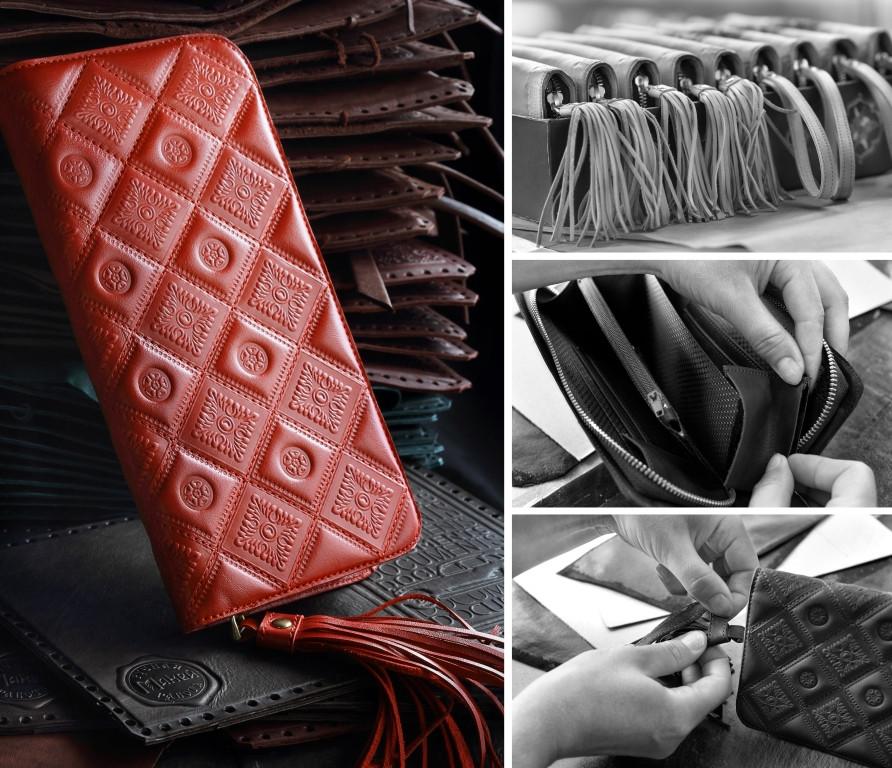 Изготовление портмоне женского (натуральная кожа) артикул 546-07-01