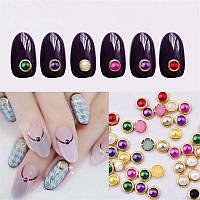 Камни-брошки для дизайна ногтей, упаковка 10 шт