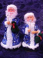 Дед мороз на бат-ке. только красный 30 см 1шт/в уп. музыкальная, танцует,поет, свет