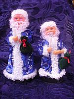 Дед мороз на бат-ке. только красный 25 см 1шт/в уп. музыкальная, танцует,поет, свет