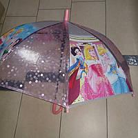 Зонт детский принцессы силиконовый