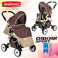 Прогулочная коляска Adbor Oscar Sport kropki-01