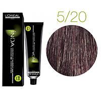 Краска для волос INOA-mix L'Oreal Pro 60 g 5.20 Светлый шатен интенсивный перламутровый