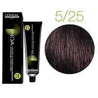 Краска для волос INOA-mix L'Oreal Pro 60 g  5.25 Светлый шатен перламутровый красное дерево