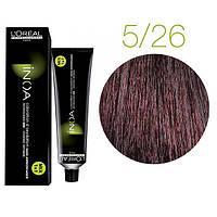 Краска для волос INOA-mix L'Oreal Pro 60 g 5.26 Светлый шатен перламутрово-фиолетовый