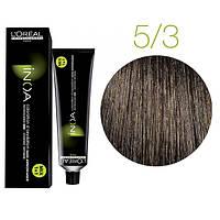 Краска для волос INOA-mix L'Oreal Pro 60 g 5.3 Светлый шатен золотистый