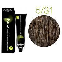 Краска для волос INOA-mix L'Oreal Pro 60 g  5.31 Светлый шатен золотистый пепельный
