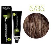 Краска для волос INOA-mix L'Oreal Pro 60 g  5.35 Светлый шатен золотистый красное дерево