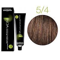 Краска для волос INOA-mix L'Oreal Pro 60 g 5.4 Светлый шатен медный