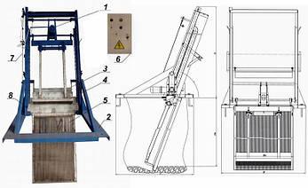 Решетка механическая грабельная рейкового типа РГР-2000 (канал 1000х1500), фото 2