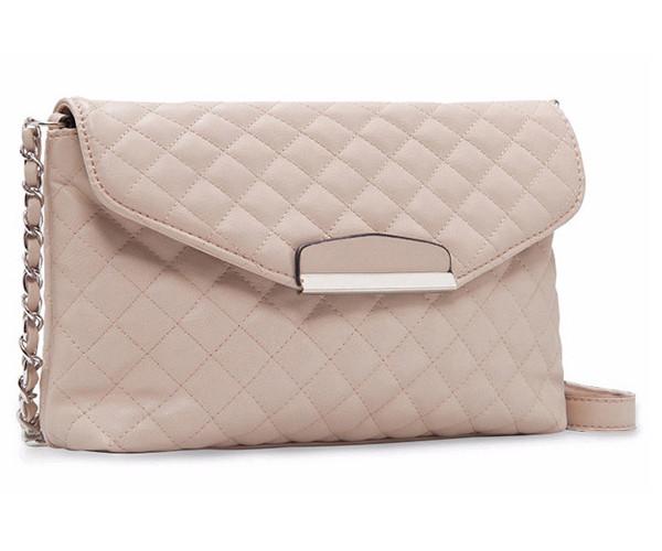 Женская сумка клатч Mango стеганая бежевого цвета
