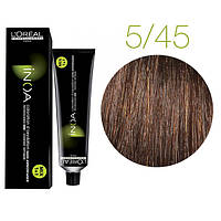 Краска для волос INOA-mix L'Oreal Pro 60 g  5.45 Светлый шатен медный красное дерево